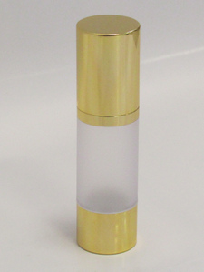Frosted & Gold Chrome 30ml With Cap - Airless Serum Bottles