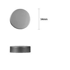 54mm Metal Smooth Cap - Matt Silver - Bottles & Jar Accessories - Smooth Matt Caps